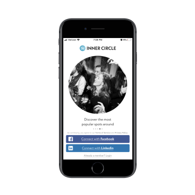 The Inner Circle dating app with bar photo