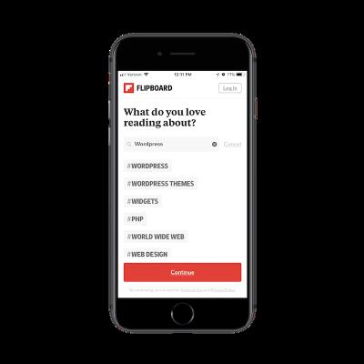 Flipboard app search results