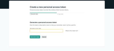 Screenshot showing where to enter the token description