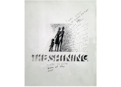 A rejected poster design for the Stanley Kubrick feature film 'The Shining'