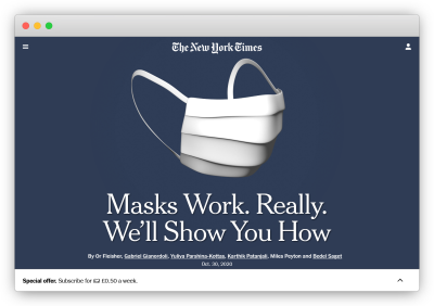 new-york-times piece about masks