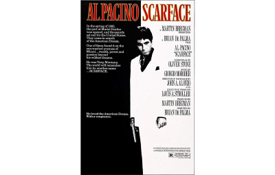 The Scarface movie poster designers likely used symbolism to create this white space