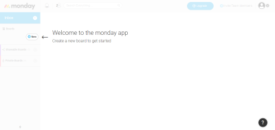 monday.com provides basic onboarding to help users get started.