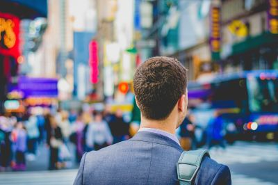 'At the bustling Times Square' by Saulo Mohana on Unsplash
