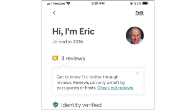 Airbnb review icon with tooltip cropped