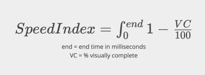 Speed Index formula
