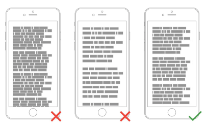 Too tight, too much, and just right. By adding the right amount of space to text — both between lines and in the margins — you help users better absorb the words.