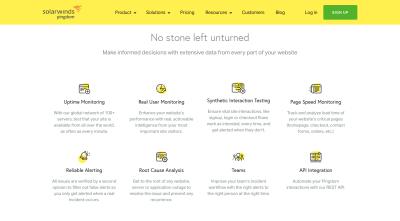 Pingdom monitoring and alerting services