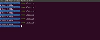 Result of the time it takes to create a single file in Node.js