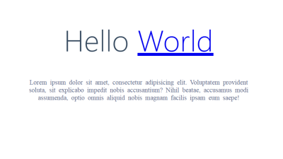 "A Next.js web page containing ""Hello world"""