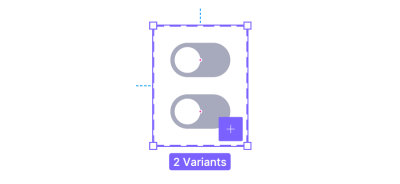 Two switch components with the off state inside a variant group.