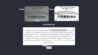Second image-to-text conversion outcome on Firefox with the image preprocessing technique called binarization.