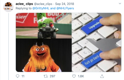 Twitter user scared of Gritty