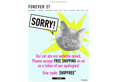 Forever 21 mailing