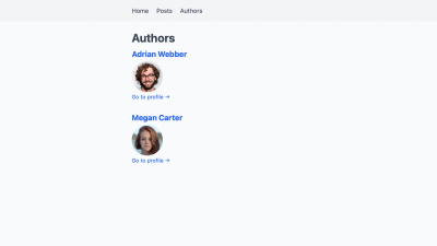 The list of authors.