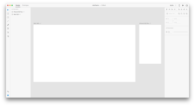 creating two artboards, one for desktop and one for mobile