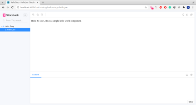 this image shows 'Hello Jo Doe!, this is a simple web component.'