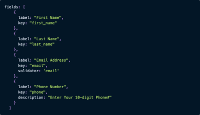 Flatfile code snippet for contact list import