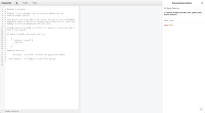 A screenshot of GraphQL's GraphiQL schema explorer tooling