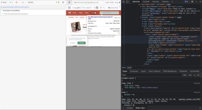 Finding selectors via developer tools