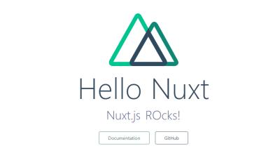 Default Nuxt.js landing page