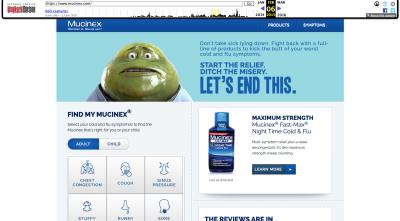 Mucinex website 2015