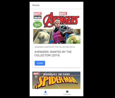 Marvel comics client app