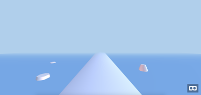 A preview of the game scene's basic geometric objects