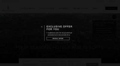 Interactive pop-up widget expands on Four Seasons