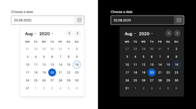 A Reliable Date Picker Library