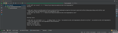 successfully setting up Dagger and run tests using Espresso and Mockito