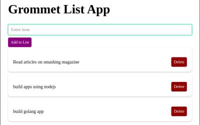 grommet list app