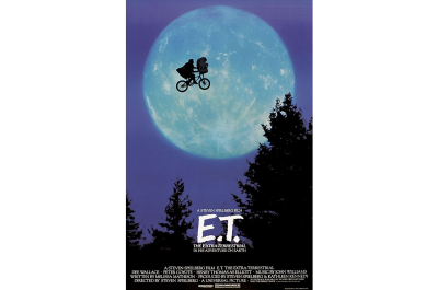 The poster for E.T. highlights the relationship between the boy and the alien