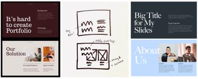 author's sketches and mockup