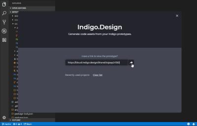Indigo.Design Code Generator extension