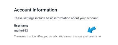 edX account settings