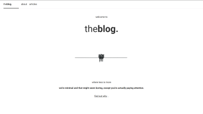 A screenshot of the minimal blog home page