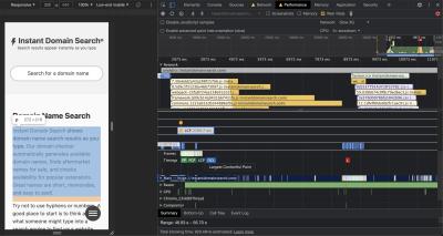 Screenshot of the Performance pane in Chrome DevTools