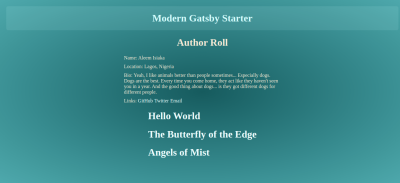 Modern Blog Author Page