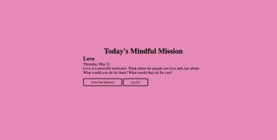 Mindful Mission