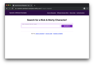 Empty search form