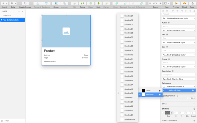 Adding elevation for the article details pattern