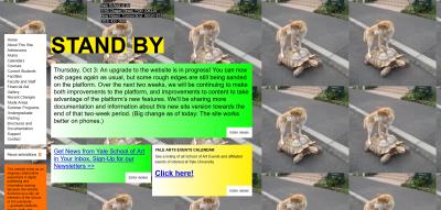 Homepage of the Yale School of Art
