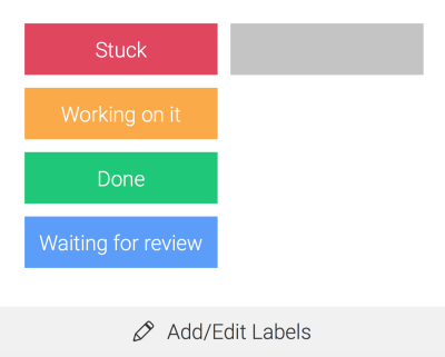 Status updates can be color coded.
