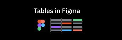 Tables in Figma mockup design