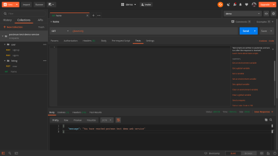 The image shows the Tests tab opened in Postman