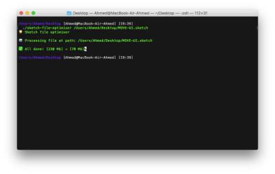 The very first version as a script in Terminal