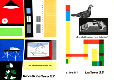 brochures designed by Giovanni Pintori