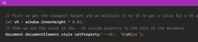 Sample of code from CSS Tricks