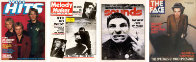 Music magazines from 1980 including The Face (far right)